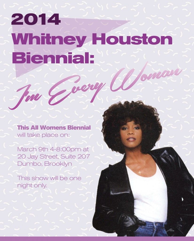 Whitney Houston Biennial evite