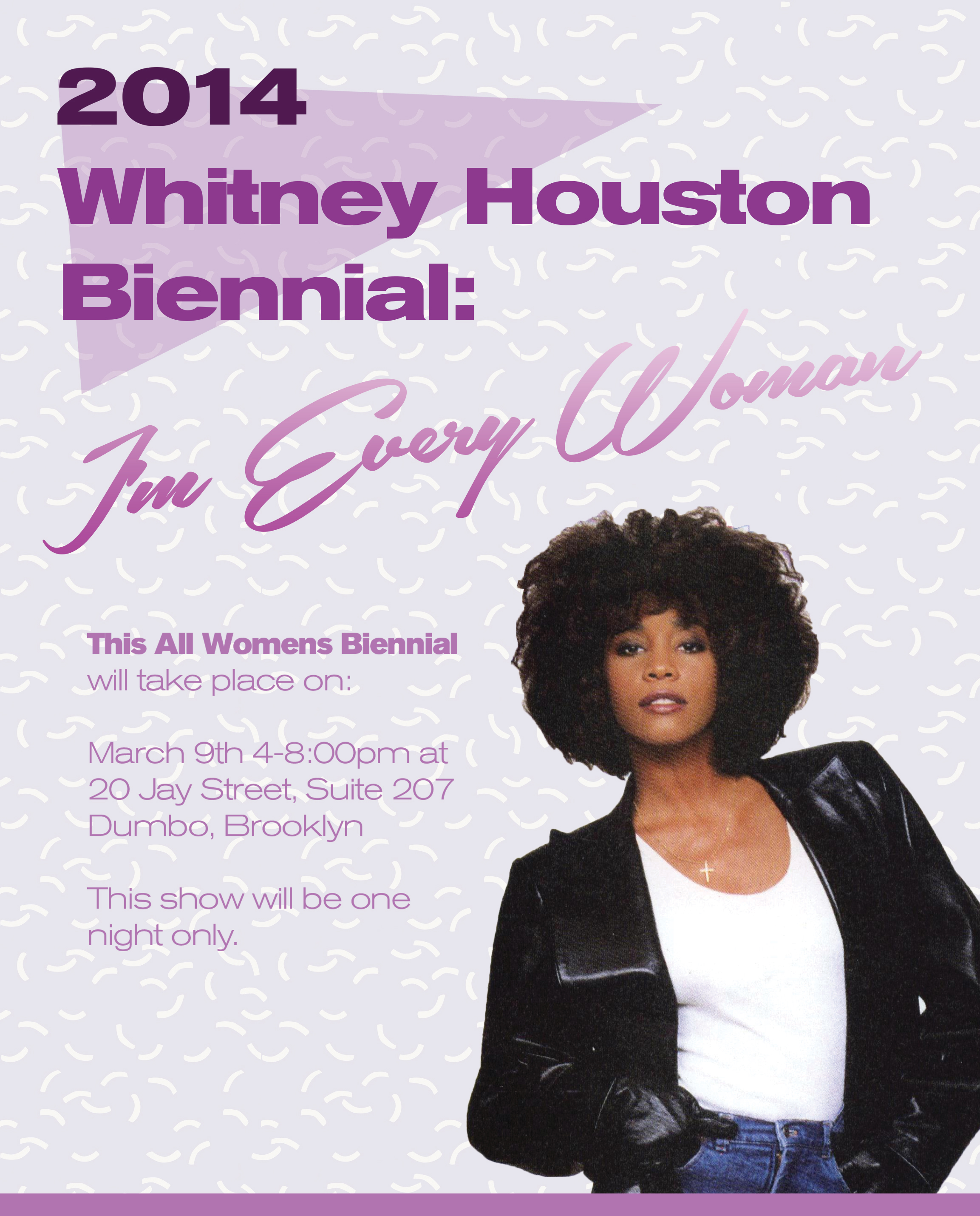 The whitney houston biennial i m every woman art in new for The whitney