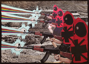 ELEKTRA KB, Cathatra Insurgents Defending Liberated Autonomous Territory, 2016, 51 x 71 in, Courtesy of Damien A. Roman Fine Art